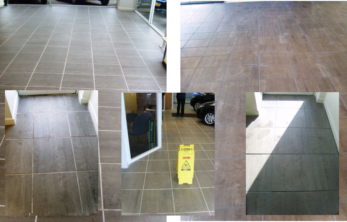 Filling the gap in areas where other companies struggle, Tile Doctor Lancashire completed this large Grout Colouring job for a Car Showroom in Morecambe.