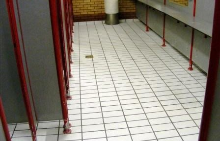 Leisure Centre changing room after cleaning