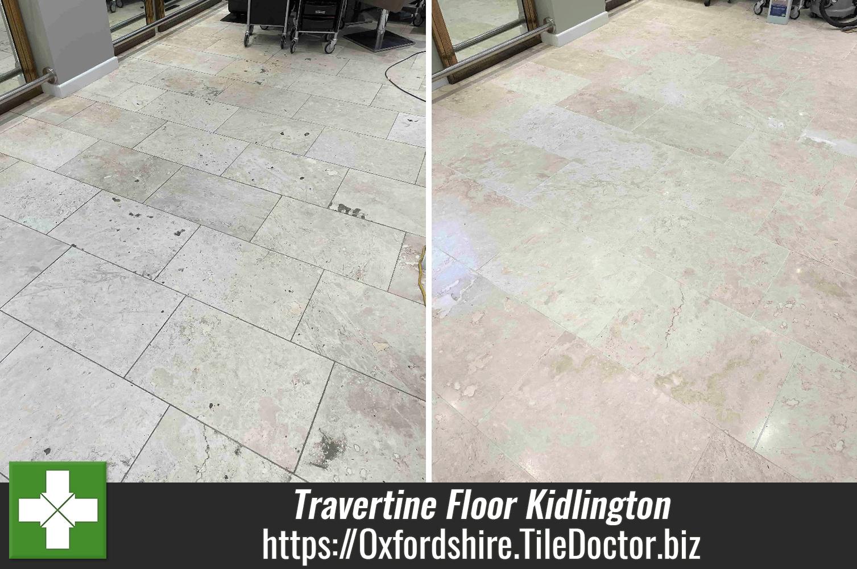 Travertine-Salon-Floor-Before-and-After-Restoration-Kidlington